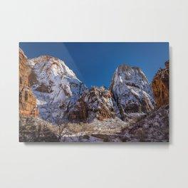 Zion Winter 4577 - Big_Bend Viewpoint, National Park, Utah Metal Print