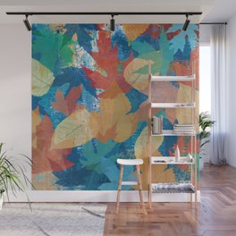 Colorful fall leaves Wall Mural