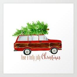 Christmas Wagoneer  Art Print