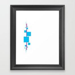 Tech Stream Framed Art Print