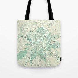 Dijon Map Blue Vintage Tote Bag