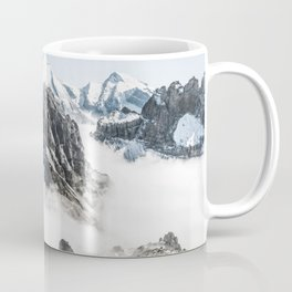 Mountain Tops Above Clouds And Snow Coffee Mug