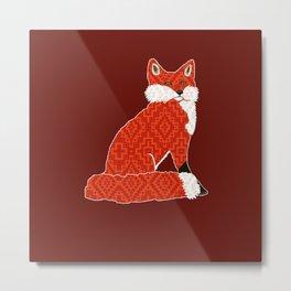 Foxy Cozy / Fox Den Metal Print