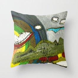 Peinture du soir. Throw Pillow