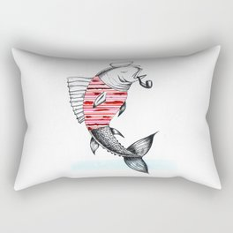 Smoking Fish Rectangular Pillow