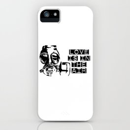 Love is in the air gas mask iPhone Case