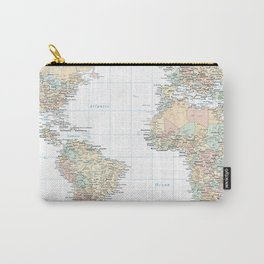 Clear World Map Carry-All Pouch