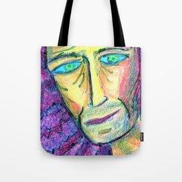 People with downcast look. Tote Bag