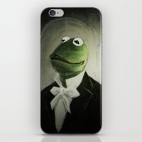 kermit iPhone & iPod Skins featuring Sir Kermit by LogicINK