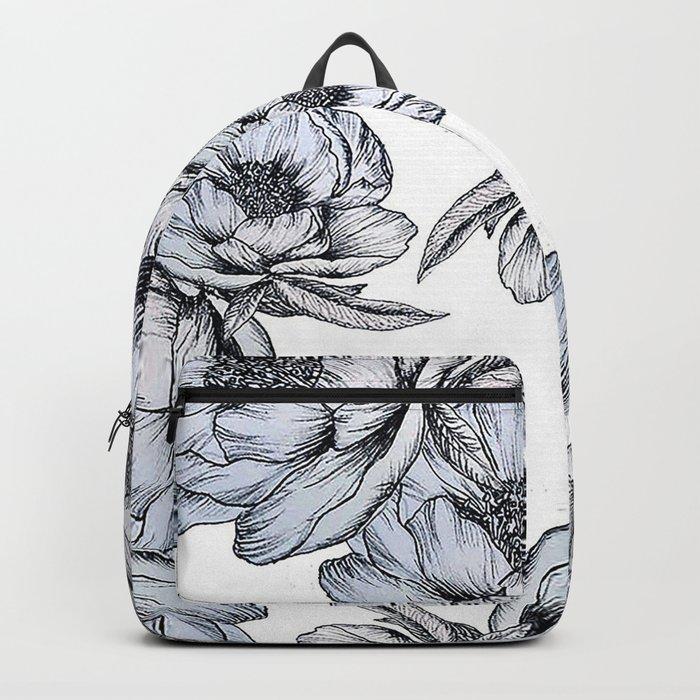 floating flowers Backpack