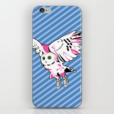 Owl w/ sneakers iPhone & iPod Skin