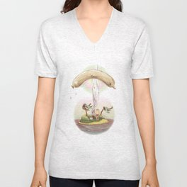 Flying dolphin  Unisex V-Neck