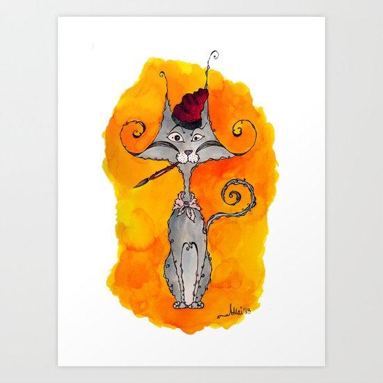 Dalí Cat Art Print