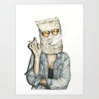 Brown Baggin' It Art Print