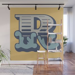 'The letter R' Design Motif Wall Mural