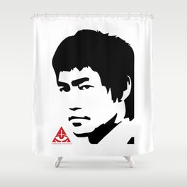 Bruce Stencil Shower Curtain