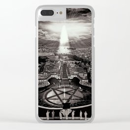 Vatican Rocking View Black and White Clear iPhone Case
