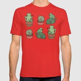 Cacti Cat pattern T-shirt