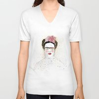 frida kahlo V-neck T-shirts featuring Frida Kahlo  by Marttala