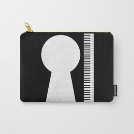 Piano Keyhole Musical Copy Space Carry-All Pouch