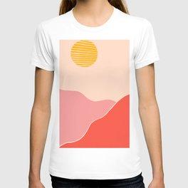 Desert Sunset and Mars Mountains T-shirt