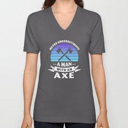 Funny Axe throwing Gift for Axe Thrower Unisex V-Neck