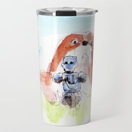 When Scout meet the Dog Travel Mug