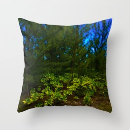 Luscious Leaves of Green Throw Pillow