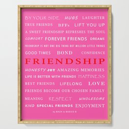 Friendship Serving Tray
