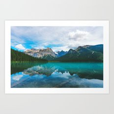 The Moutains and Blue Water Art Print