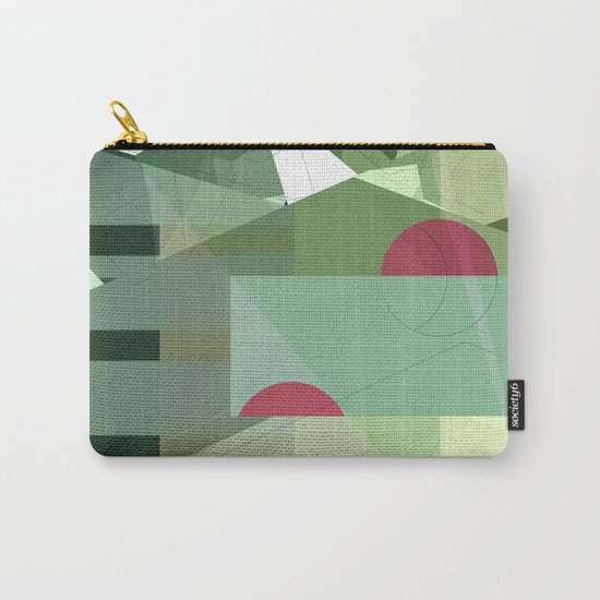 Geometric abstract green No. 1 Carry-All Pouch