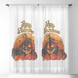 Happy Halloween Sheer Curtain