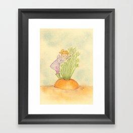 The carrot inspector Framed Art Print