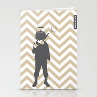 steam punk Stationery Cards featuring Steam Punk by Jade Deluxe