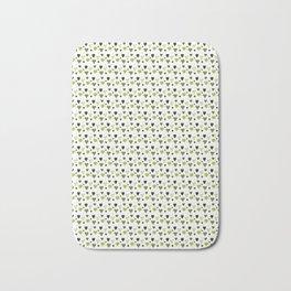 Green Heart Pattern Bath Mat