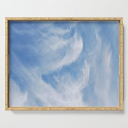 Clouds and sky Serving Tray