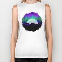 northern lights Biker Tanks featuring Under the Northern Lights by Noonday Design