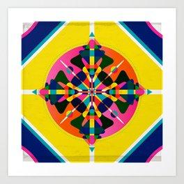 Compass, Palette 1 Art Print