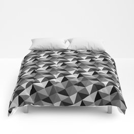 Pattern of triangles in gray shades Comforters