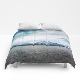 Dreaming of Mountains and Sky Comforters