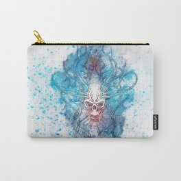 Skull background in drawing with splash effect Carry-All Pouch