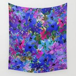 Cool Blue Summer Garden Wall Tapestry