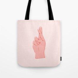 Fingers Crossed Tote Bag