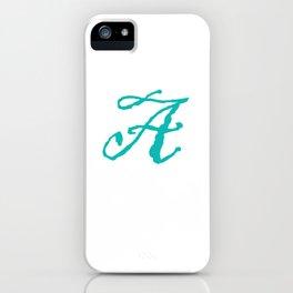 """""""A"""" // Initals // Monograms // Names iPhone Case"""