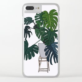 Plant Love Clear iPhone Case