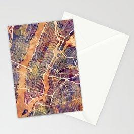 New York City Street Map Stationery Cards
