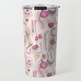 Pink Vanity Table Travel Mug