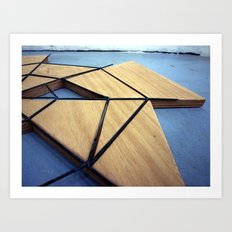 iron and wood Art Print