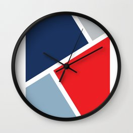 Graphic Red, White and Blue Wall Clock