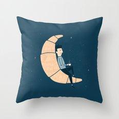 Ze Croissant Moon Throw Pillow